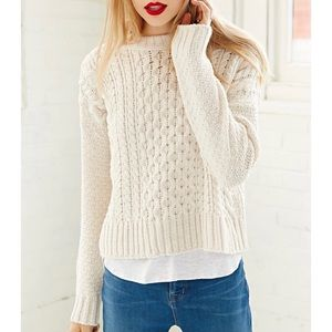 BDG URBAN OUTFITTERS honeycomb cable knit sweater